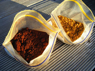 High quality ochre can be found on both sides of the Tamar.