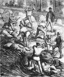 An 1873 sketch of miners